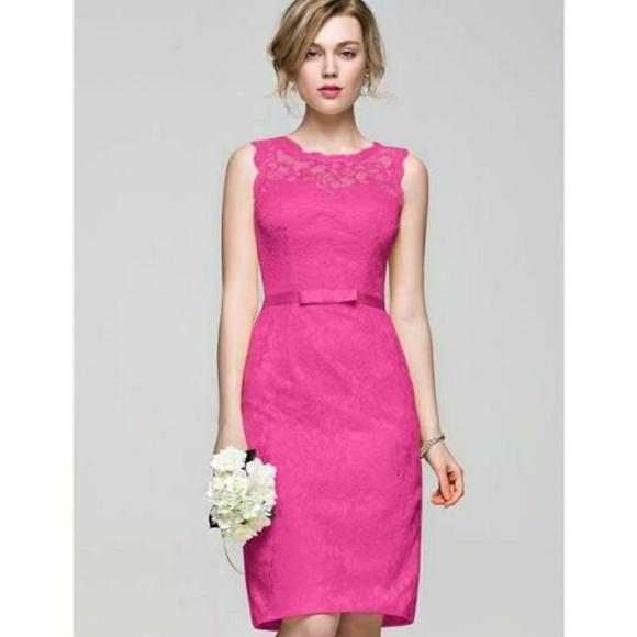 03adcb09a43 JJ S HOUSE Dresses   Skirts - 💖 JJ S HOUSE PINK LACE SHEATH ...